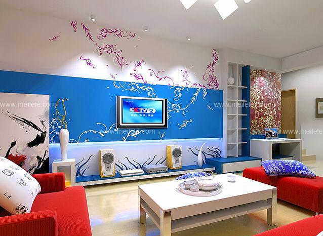 手绘墙为最新、最流行和最时尚的装饰方式