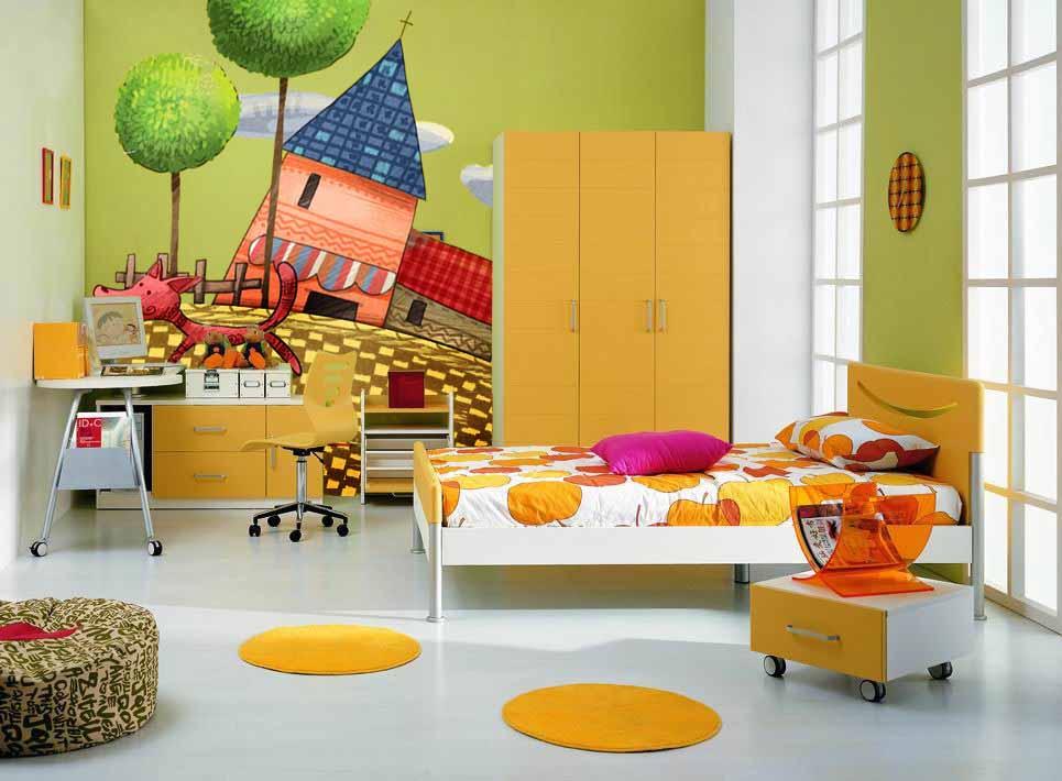儿童房房间的主题,孩子一定会喜欢这种类型的墙绘